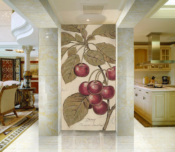 3D Cherry Fruit Tree 52 Wall Paper Wall Print Decal Wall Deco Indoor Mural Lemon