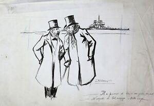 Maurice-Lourdey-1860-1934-Politik-Tinte-Notre-Dame-Paris-Lefebvre-Lourdet