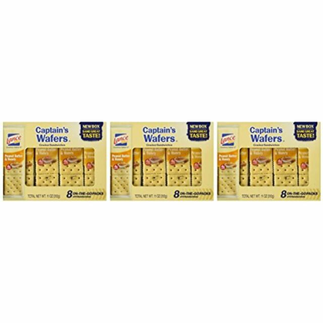 Lance, Captain's Wafers, Peanut Butter & Honey Wafers, (Pack of 3)