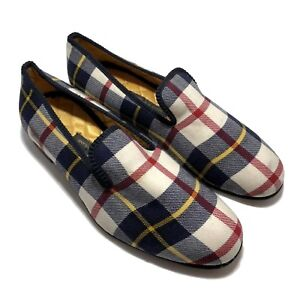 NEW-amp-LINGWOOD-MEN-039-S-CHECK-FABRIC-SMOKING-SLIPPERS-8-5-685