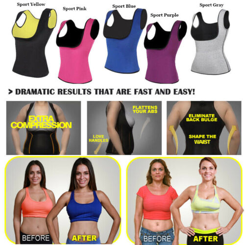 Sauna Sweat Body Shaper Tops Women Slimming Vest Thermo Fat Bruner Waist Trainer