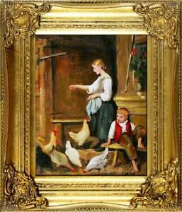 Painting-Oil-Frame-Baroque-Pictures-Menschen-G05841