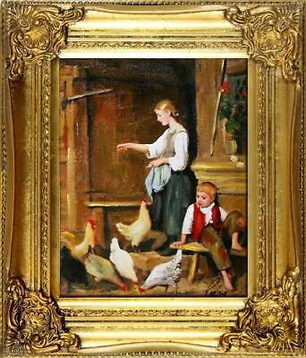 Ölgemälde Barock Bild Bilder Gemälde Ölbilder Ölbild Bilderrahmen Rahmen G01013