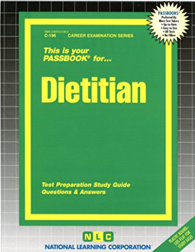 National Learning Corporation-Dietitian BOOK NEW