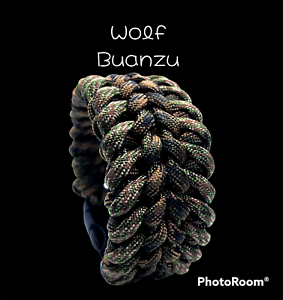 Handmade *USA* Paracord Tactical Survival Bracelet Wolf Buanzu Wide W/ Buckle