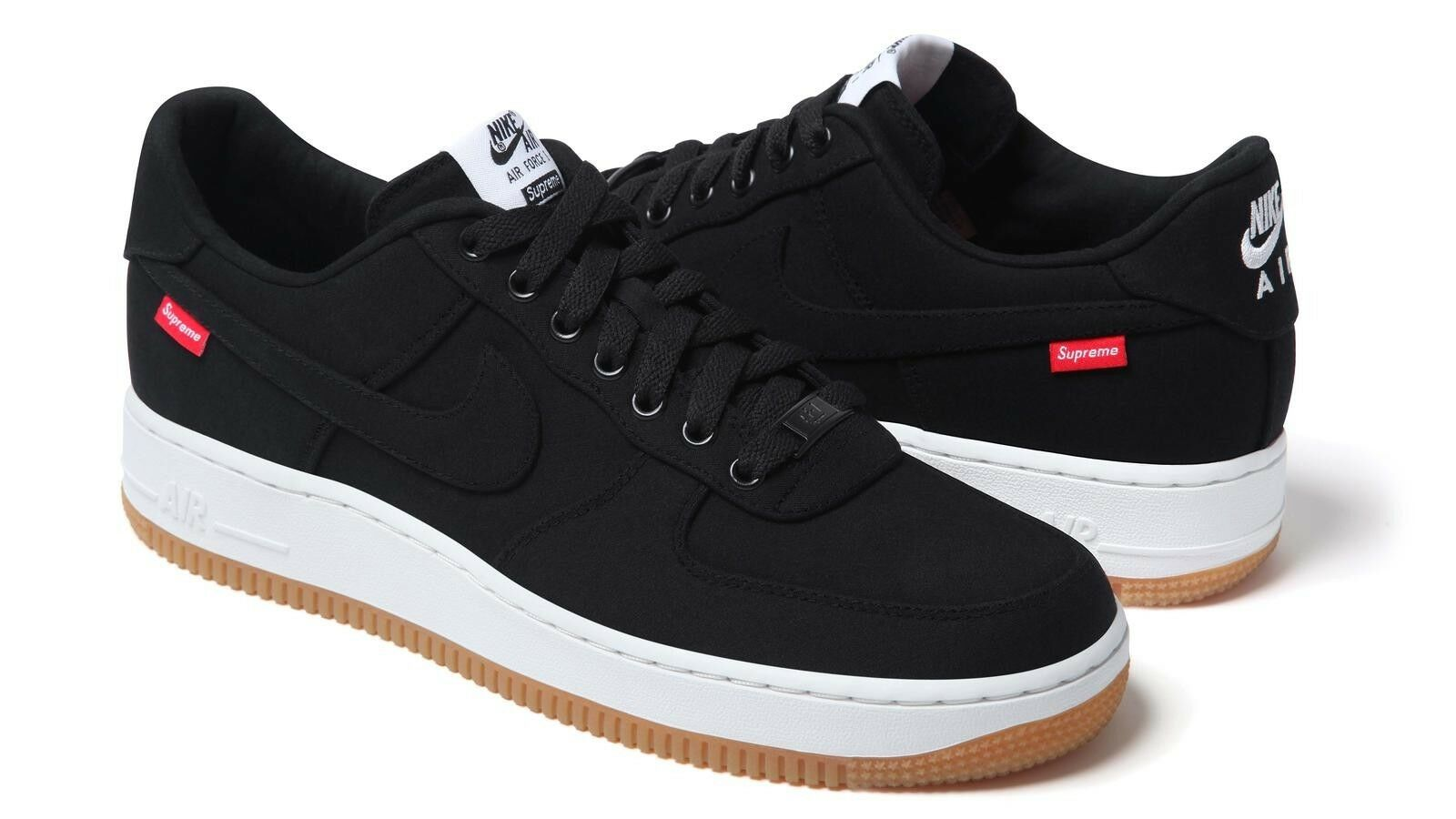 Supreme Nike Air Force 1 Black Size 10 FW2012