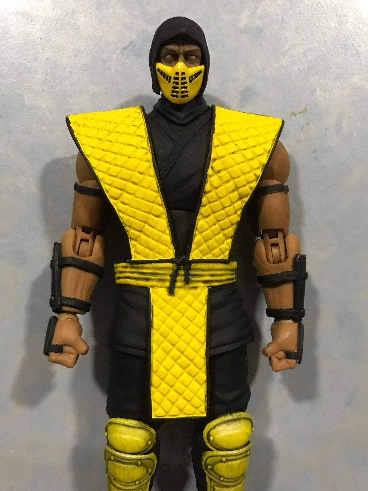 (en Stock, normal ver.) tormenta Coleccionables Mortal Kombat Scorpion 1 12 figura