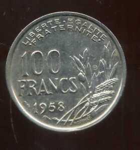 100-francs-1958-B-cochet