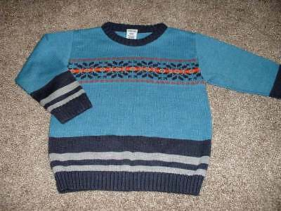 Gymboree Boys Blue Fair Isle Sweater Size Small 3 yrs 3T Toddler Winter Top 2002