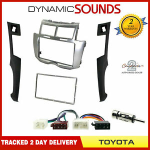 CT24TY22-Car-Stereo-Double-Din-Silver-Fascia-Fitting-Kit-for-Toyota-Yaris-2007-gt