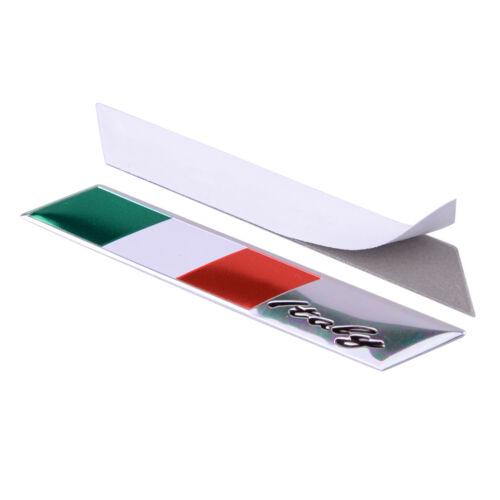 2pcs Metal Italy Flag Emblem Sticker Decal For Car Decal Fender Door Window