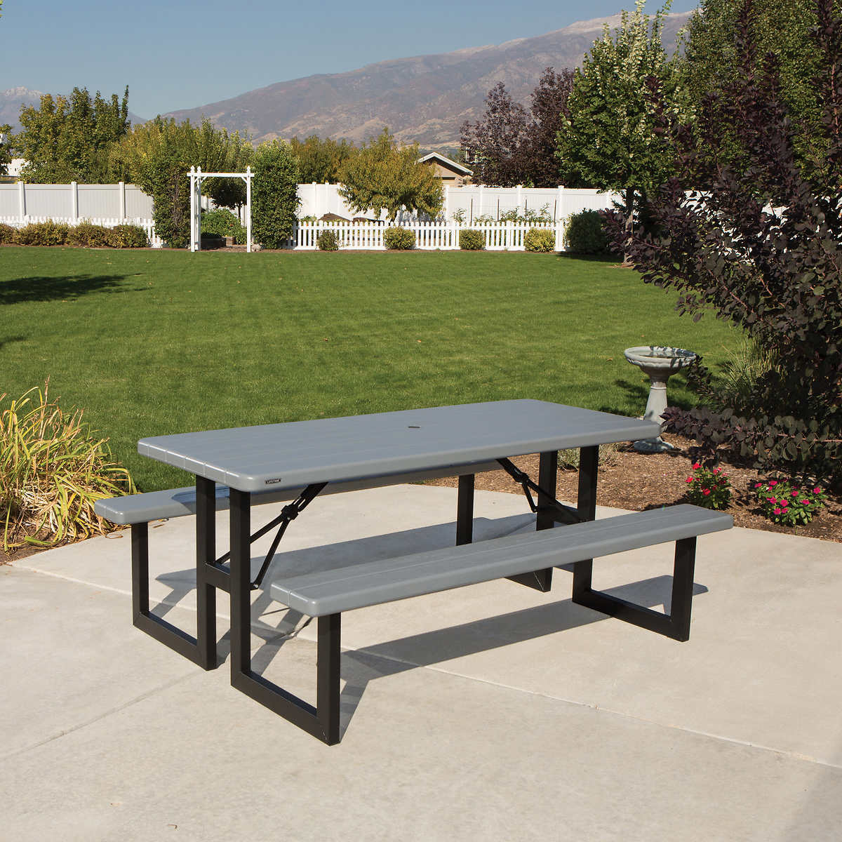 Lifetime 60292 Adirondack Table Gray For Sale Online Ebay