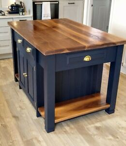 Bespoke Solid Wood Kitchen Island Unit