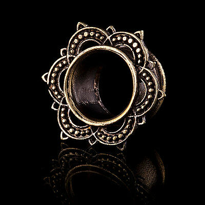 Ornate Brass Plugs/Tunnels  (Code 37) Hippy Tribal Alternative Body Jewellery