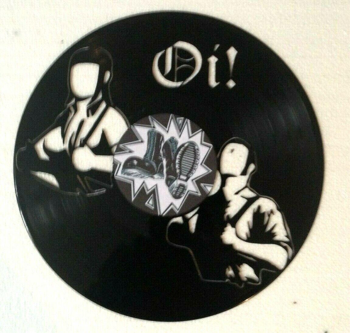 Décoration murale   horloge en disque vinyle 33 Tours - Oi - Skin head