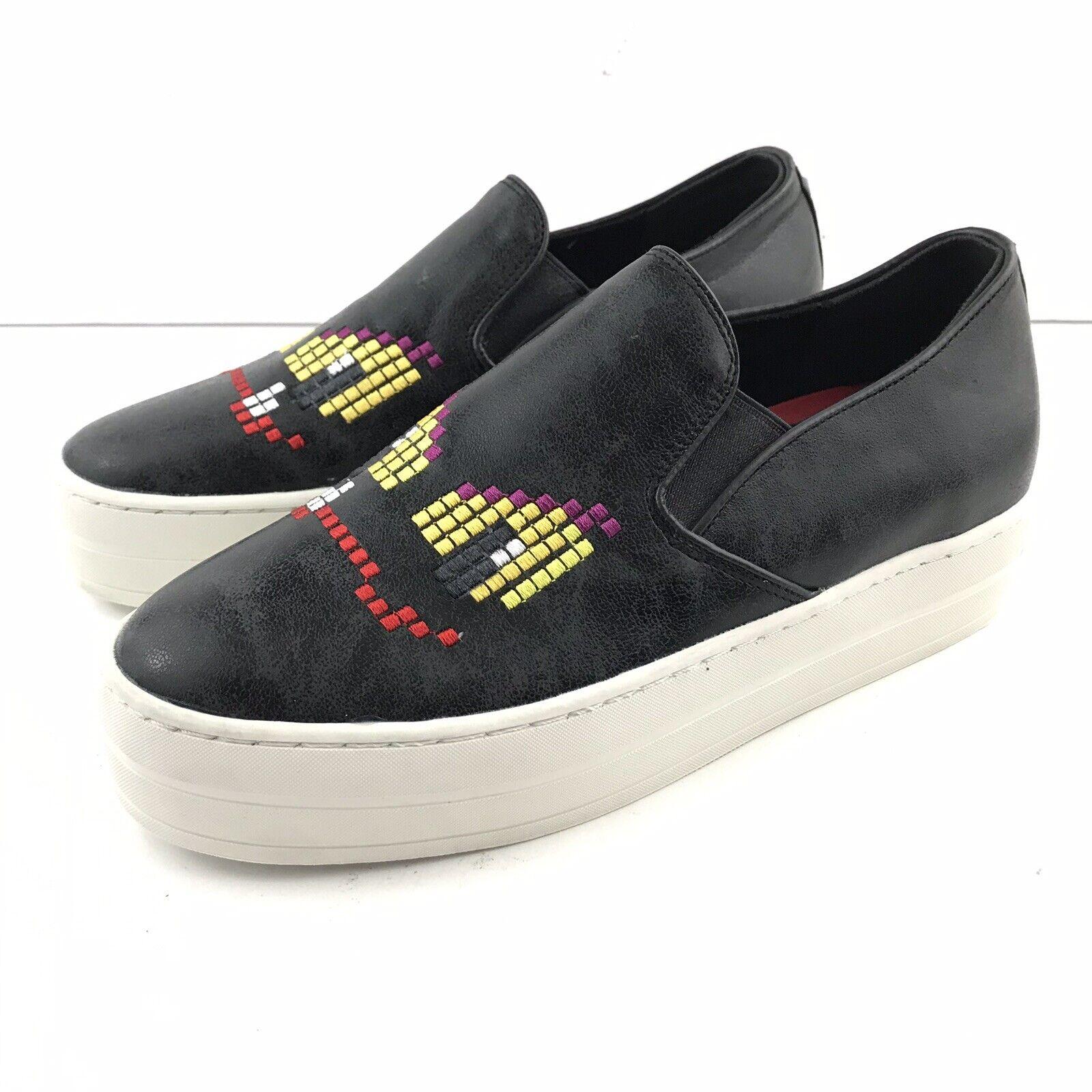 Skechers 6.5 mujeres elevar distendió Negro Resbalón en Zapatillas Zapatillas Zapatillas De Plataforma Imitación Cuero  el mas de moda