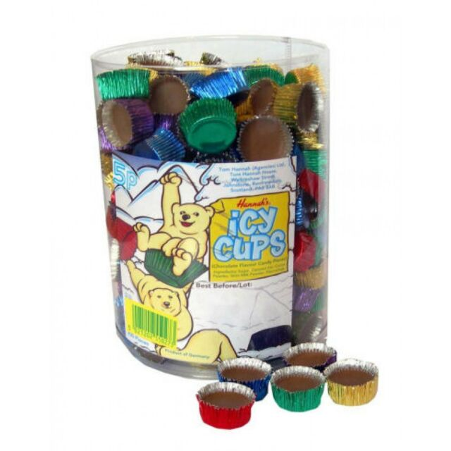 CHOCOLATE ICY CUPS - 200 Pieces Retro Sweets Party Bags
