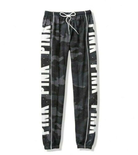 sportivi Pantaloni classici Victoria rosa Camo Blue sportivi Bling strass Secret Pantaloni Xs L qOd5w8Cq