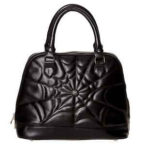 Malizia occulte d'araignée interdit noir gothique en toile bandoulière noir Sac wiccan qP8wytt0