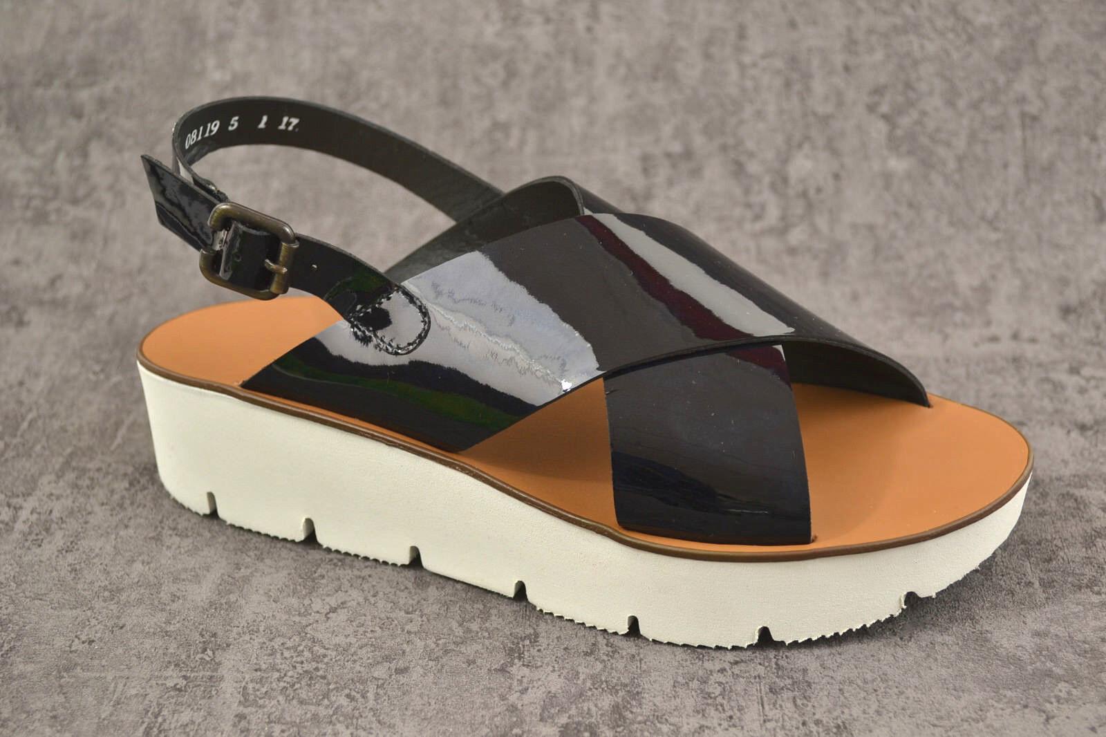 NEU NEU NEU Paul Grün Damen Sandalen Sandalette soft Lack schwarz NEU 89c0e3