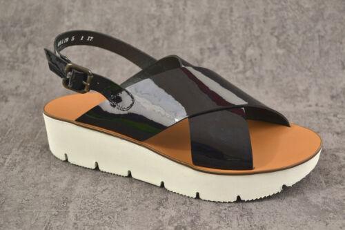NEU Paul Green Damen Sandalen Sandalette soft Lack schwarz NEU