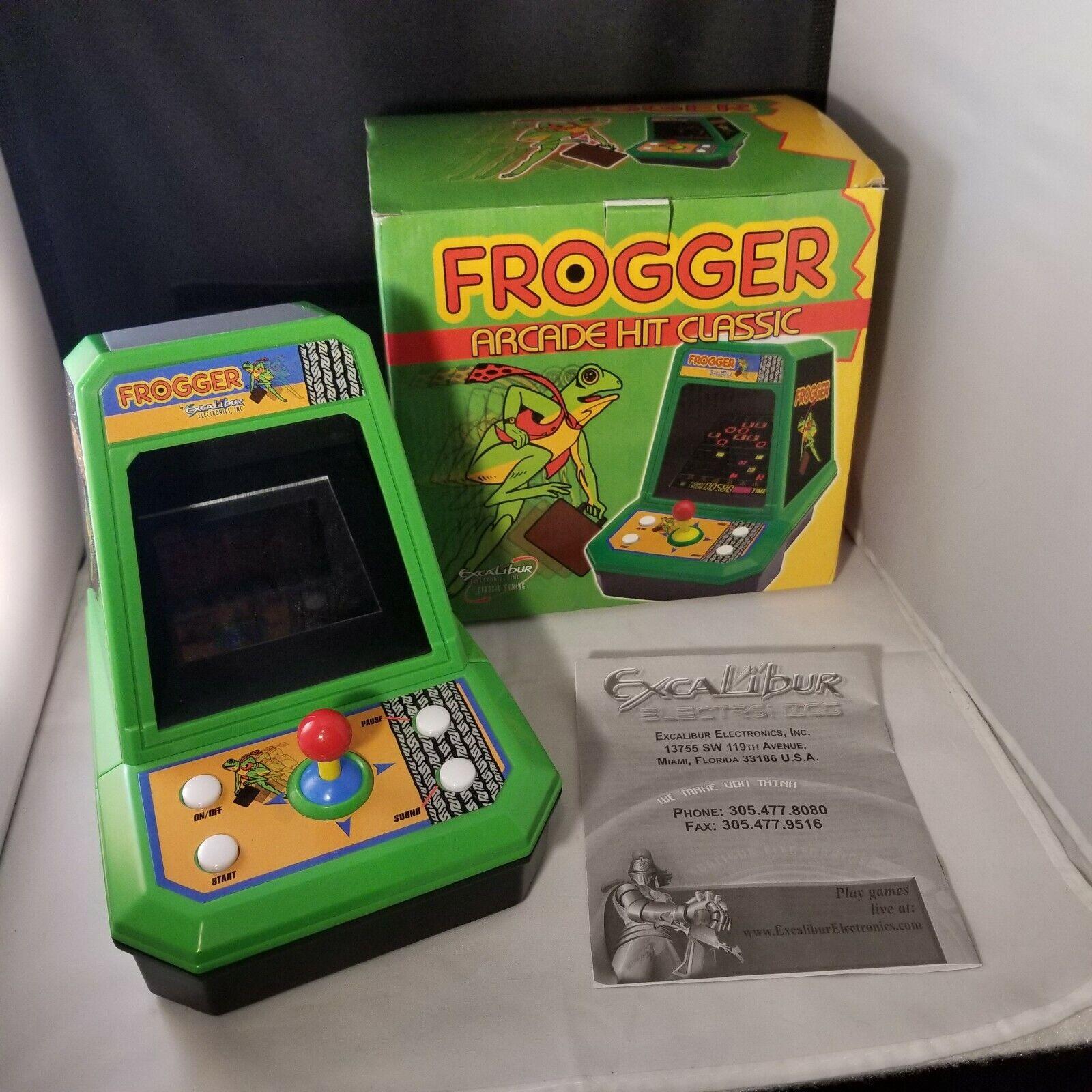 Excalibur Frogger Juego Arcade Mesa Electrónico Completo En Caja