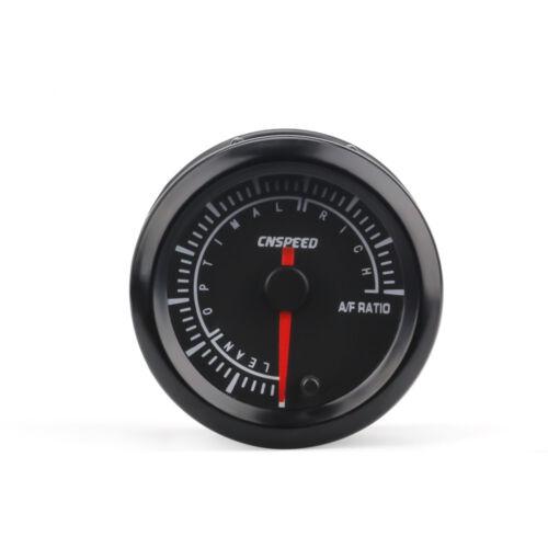 "2/"" 52MM LED Pointer Car Air Fuel Ratio Gauge Black Monitor Analog Racing Meter"