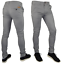 Mens-Skinny-Fit-Stretch-Chino-Trousers-Casual-Flat-Front-Super-Skinny-Pants miniatura 2