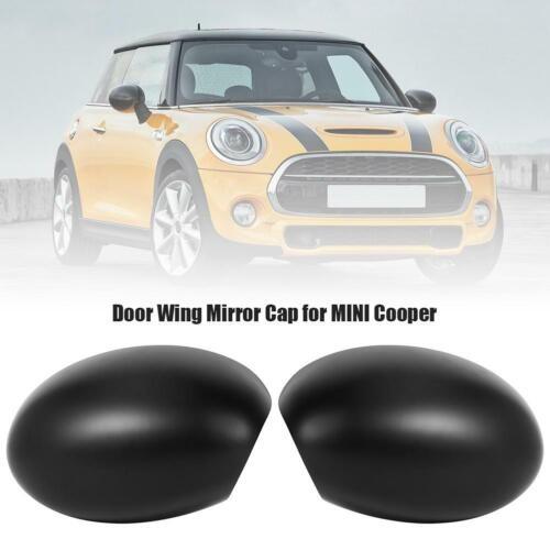 1 Pair Side Door Wing Mirror Covers Caps for MINI Cooper R52 R50 R53 Left+Right