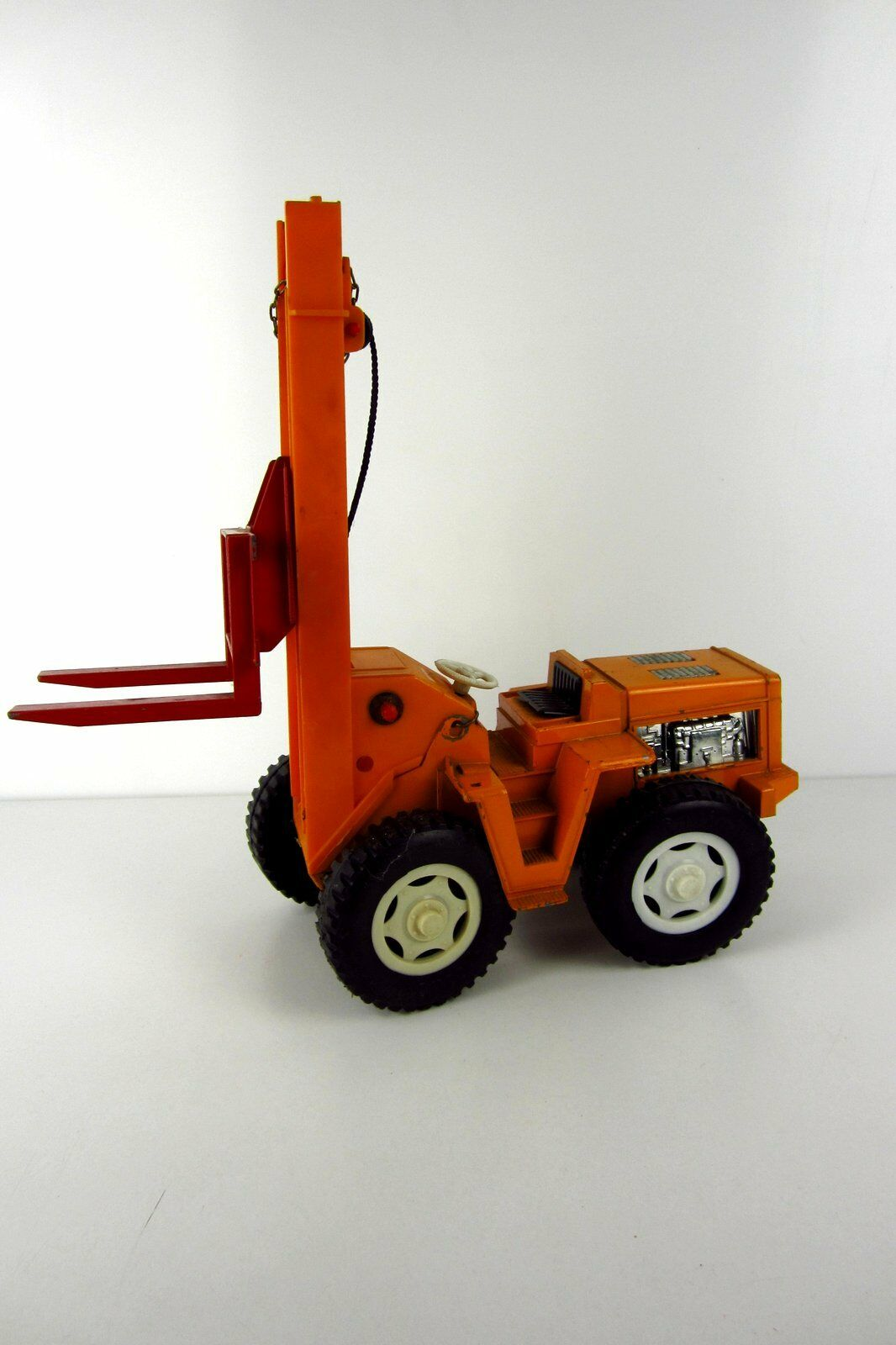Old Sheet Metal Forklift Continental Conti with Handcrank Tin Toy Rarity