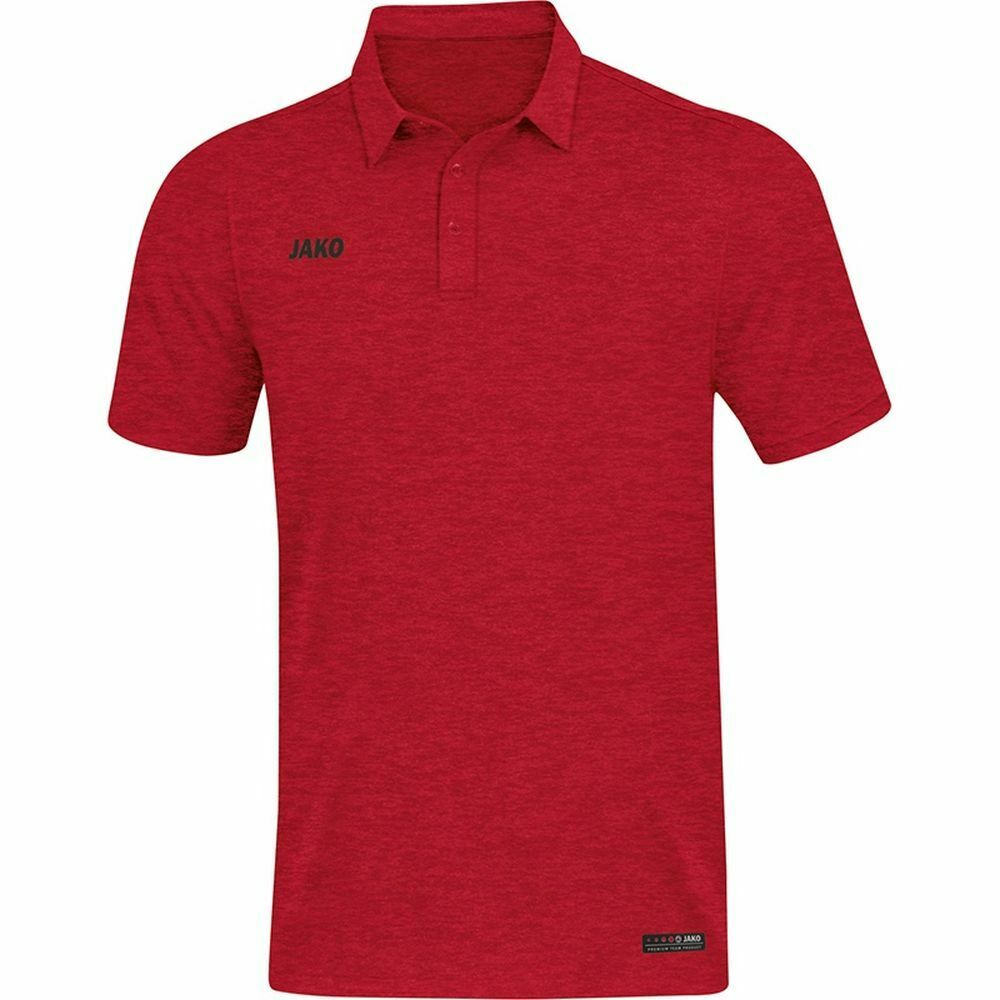 Jako Sports Training Football Casual donna Short Sleeve SS Polo Shirt Top rosso