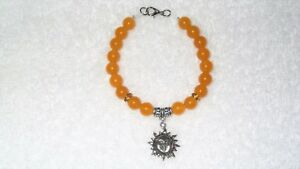 7dbef9af4abe0 Details about Yellow South American Topaz Celestial Sun Surfer Dude Charm  Bracelet Jewelry