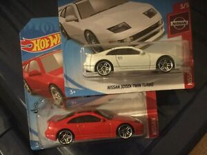 Hot-Wheels-Nissan-300ZX-Twin-Turbo-3-5-Rojo-Y-Blanco-Nuevo