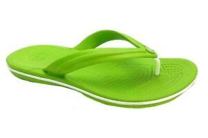 Details zu Crocs Crocband Flip Flops Herren Sandale Hausschuhe Badeschuhe Badelatschen grün