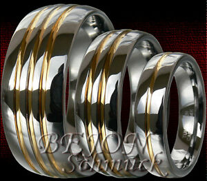 anillo boda alianza anillos de pareja * nuevo * 2 anillos de volframio compromiso de amistad