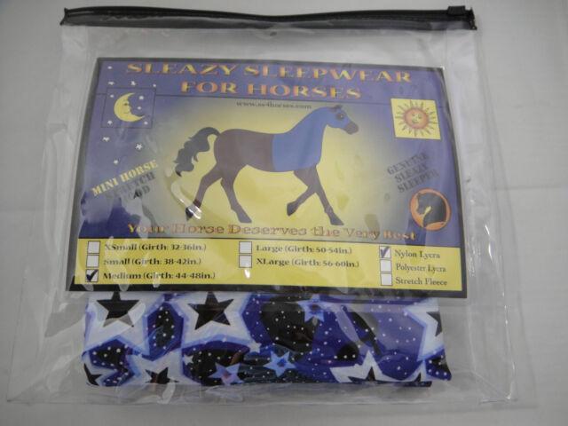 Horse Foal Cob Sleazy Sleepwear Lycra 1 Piece FULL Body Show Sheet Hood Solid