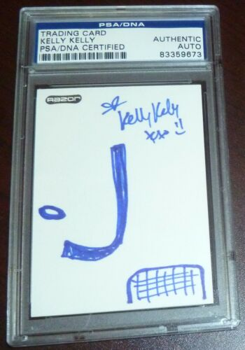 One of a Kind Hand Drawn Sketch Kelly Kelly Signed WWE Card PSADNA COA Hockey