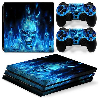 Video Games & Consoles Blue Skull Motif Promoting Health And Curing Diseases Sony Ps4 Playstation 4 Pro Skin Sticker Screen Protector Set