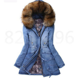 Luxus Damen Vogue Faux Pelz Jacke Winter Warm Mit Kapuze Jacke Mantel Outdoor