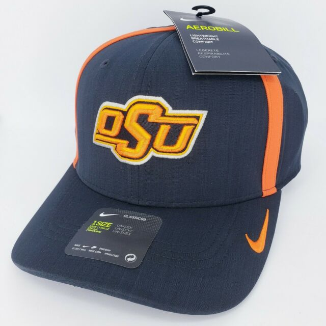 3fd69f412 Oklahoma State Cowboys Nike NCAA Aerobill Sideline Coaches Cap Dri Fit