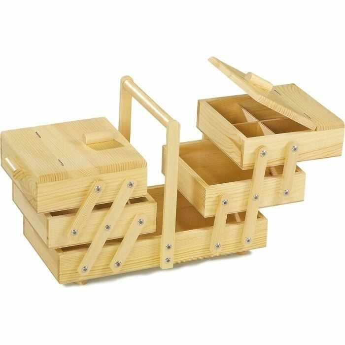 Cestino da lavoro in legno