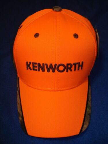 BRIGHT ORANGE CAMO BILL TRUCKERS CAP    *FREE SHIPPING * KENWORTH HAT