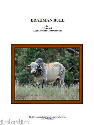 cross stitch chart BRAHMAN BULL