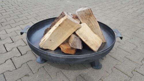 Feuerschale aus Stahlblech Ø 1000 mm mit 3 Beinen und 2 Griffen Pflanzschale