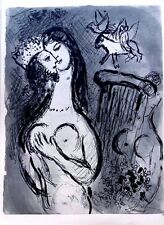 Marc Chagall offset lithograph Bible  paris maeght 1960 original  2 sided 127