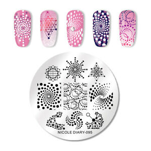 NICOLE-DIARY-Round-Nail-Stamping-Plates-Geometric-Stainless-Steel-Nail-Tool-095