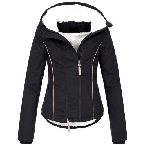AZ-Fashion Donna Invernale Giacca Giacca Parka caldo Teddy Pelliccia Cappuccio XS-XL az25
