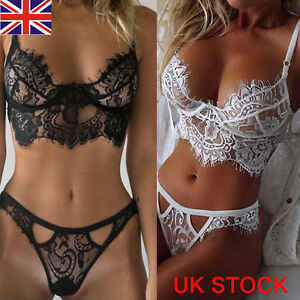 Image is loading UK-Fashion-Ladies-Sexy-Lace-Babydoll-Lingerie-Nightwear- 724f55a7defe