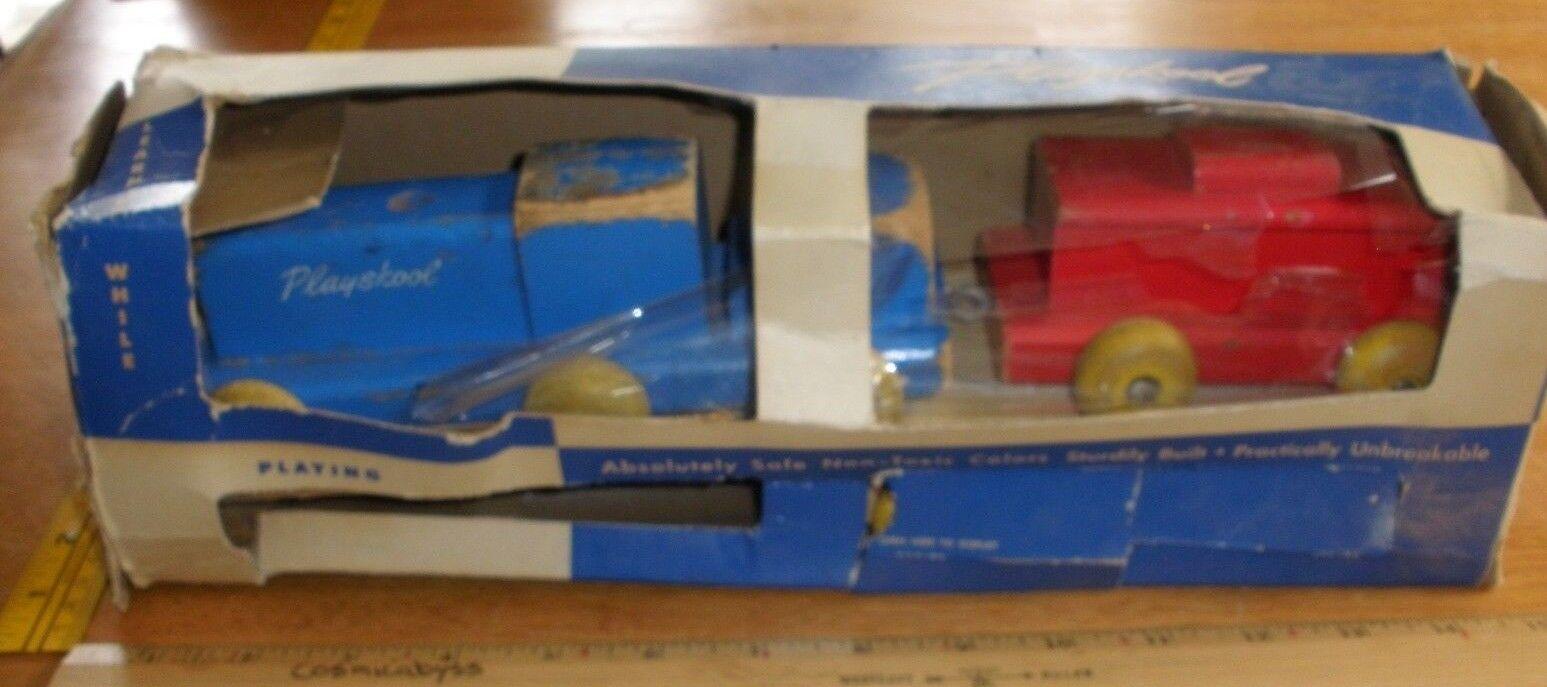 Playskool especial tren de carga Nº 415 de madera en paquete Raro Juguete de tracción temprana