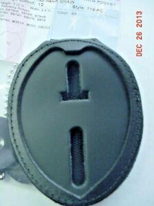 Shield-Shape-With-Eagle-Clip-on-Badge-holder-in-Black-12